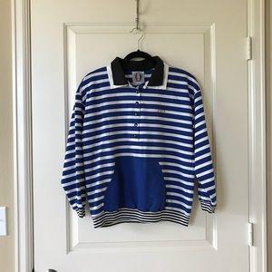 Vintage blue stripe sweatshirt, size M